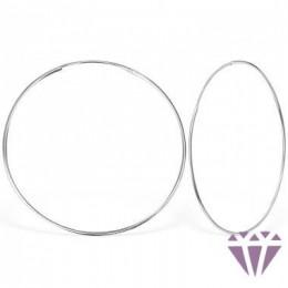 Ezüst egyszerű karika fülbevaló - 5 cm