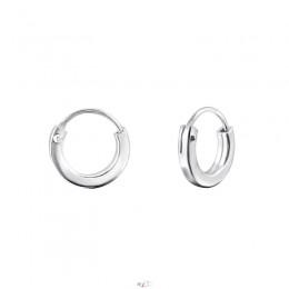 1 cm - Ezüst kicsi karika fülbevaló