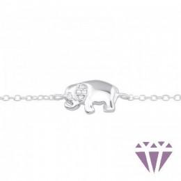 Ezüst elefánt karkötő