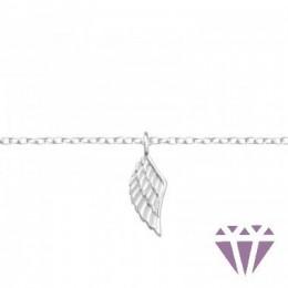 Angyal szárny formájú ezüst karkötő