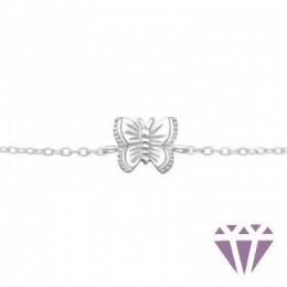Ezüst pillangó formájú karkötő