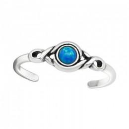 Kék köves elegáns lábujjgyűrű