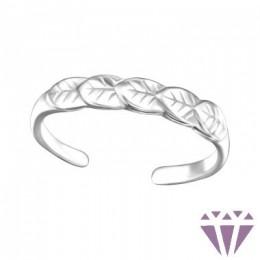 Leveles lábujj gyűrű, 925 ezüst