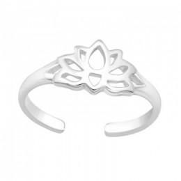 Lótusz virág lábujjgyűrű