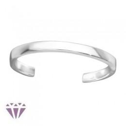 Sima lábujj gyűrű, 925 ezüst