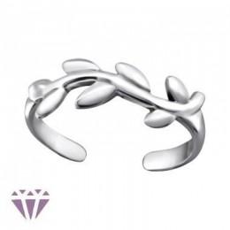Szőlő leveles lábujj gyűrű, 925 ezüst