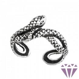 Kígyós lábujj gyűrű, 925 ezüst