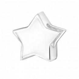 Csillag ezüst charm