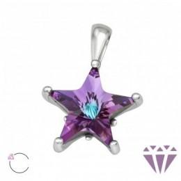 Swarovski La Crystale csillag kristály ezüst medál