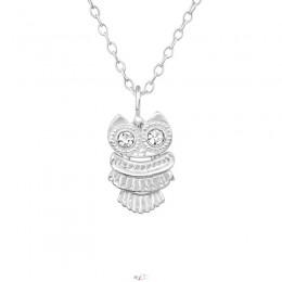 Bagoly ezüst nyaklánc