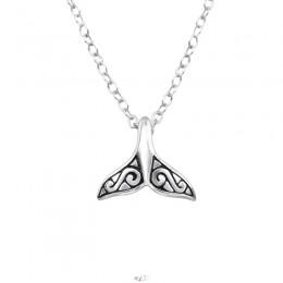 Bálna farkos ezüst nyaklánc
