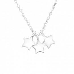 3 csillagos ezüst nyaklánc