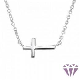 Kereszt formájú ezüst nyaklánc