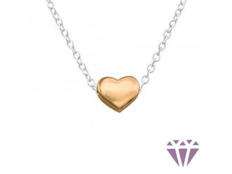 Szív formájú ezüst nyaklánc