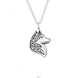 Farkas ezüst nyaklánc