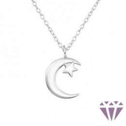 Hold, csillag ezüst nyaklánc