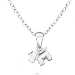 Kutya ezüst nyaklánc