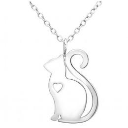 Macskás ezüst nyaklánc