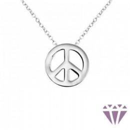 Béke formájú ezüst nyaklánc