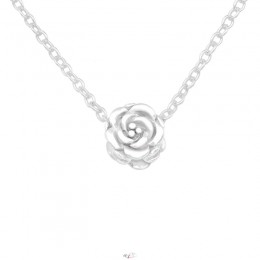 Rózsa formájú ezüst nyaklánc