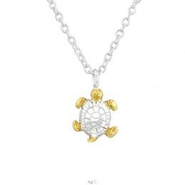 Teknősbéka 18k aranyozott ezüst nyaklánc