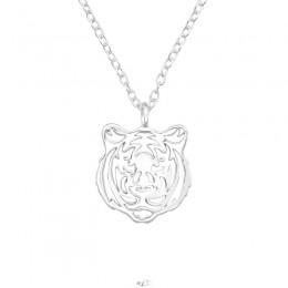 Tigris ezüst nyaklánc