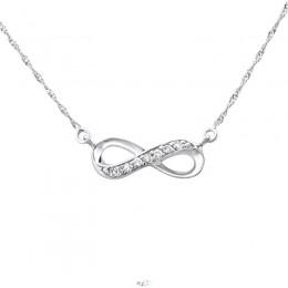 Végtelenség formájú ezüst nyaklánc