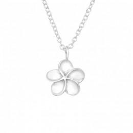 Virágos ezüst nyaklánc