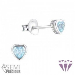 Ezüst szív formájú fülbevaló